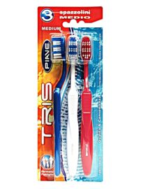 Piave Tris Family Pack Set Of 3 Toothbrushes - Medium1